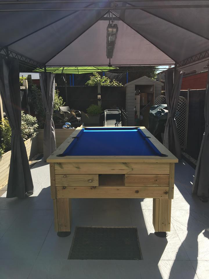 7ft Rustic Outdoor All Weather Or Indoor Pool Table