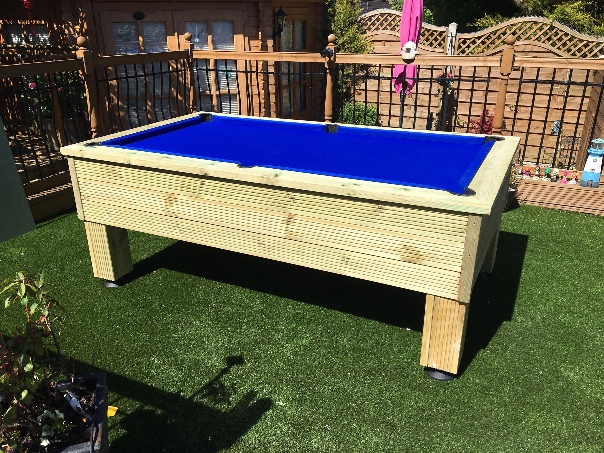 7ft Rustic Outdoor All Weather Pool Table | JohnsonsSports.com