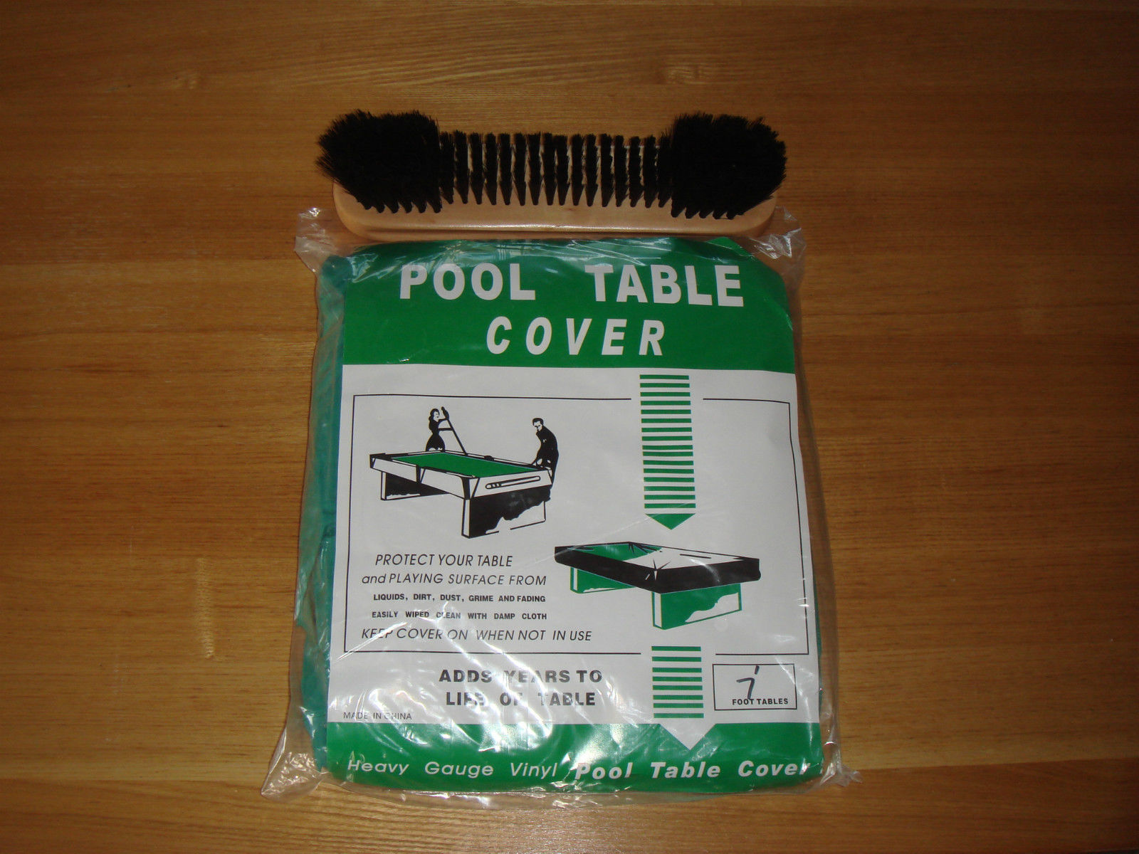 Pool Table Brush and Cover