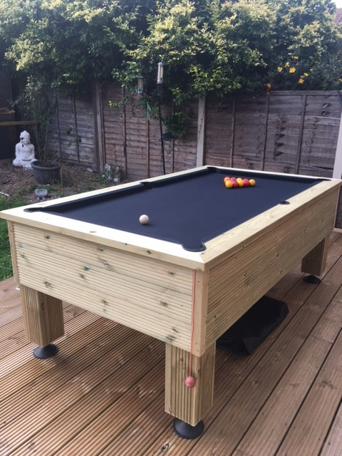 7ft Rustic Outdoor All Weather Pool Table